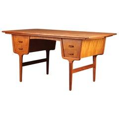 Danish Modern Partners Desk in Teak