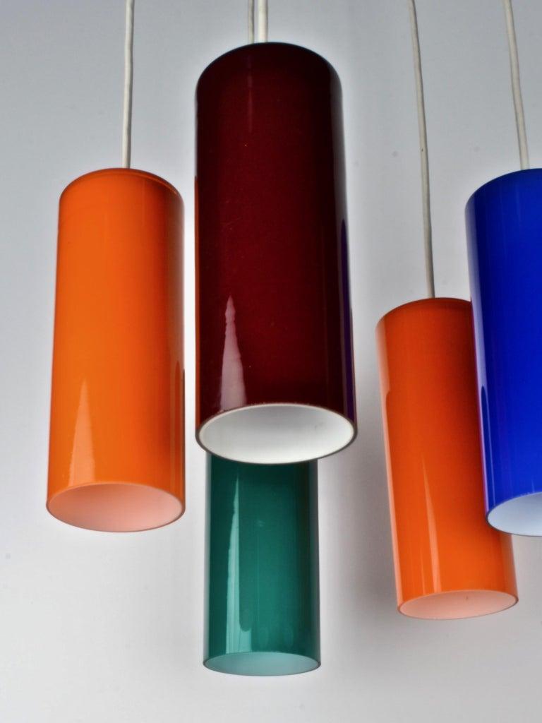 Danish Modern Pendant Chandelier, 1960s For Sale 1