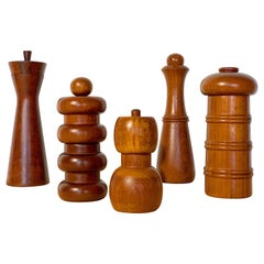 Danish Modern Pepper Mill Collection by Jens H Quistgaard for Dansk Digsmed