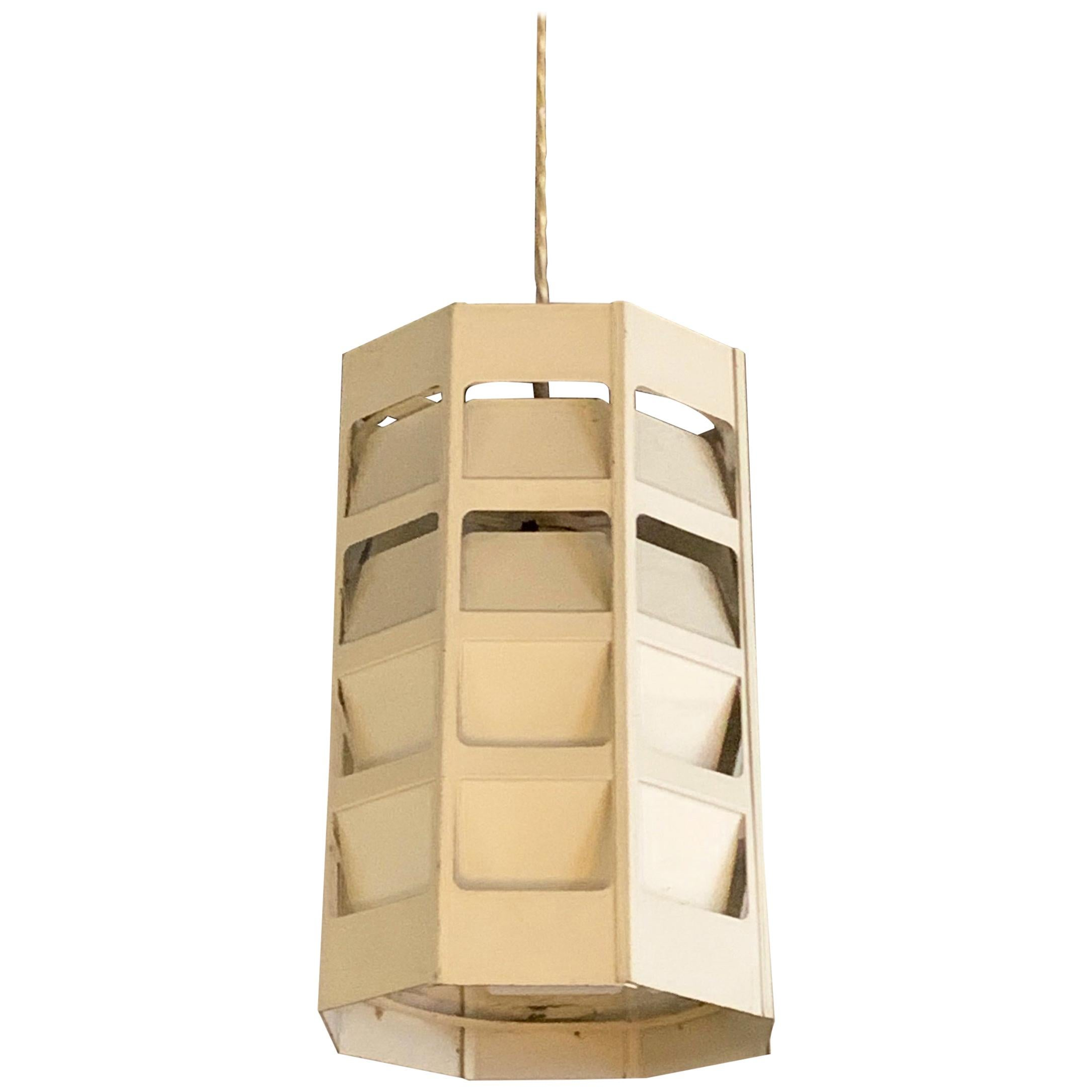 Danish Modern Perforated Metal Pendant Light by Poul Gernes for Louis Poulsen