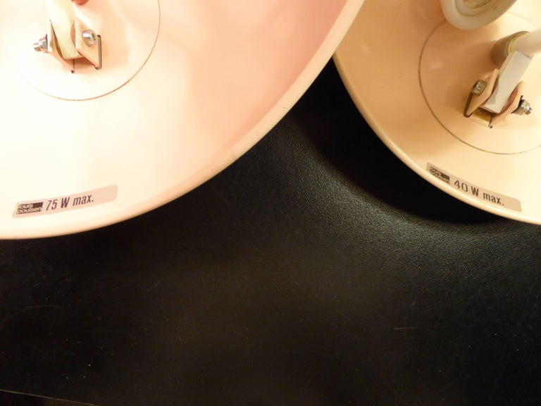 Danish Modern PH-Hat Pair Sconces by Poul Henningsen for Louis Poulsen, 1960s For Sale 2