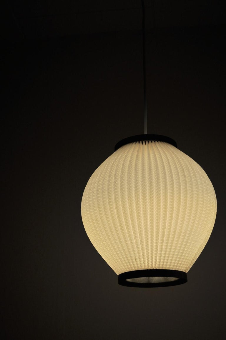Acrylic Danish Modern Pleated Pendant by Hoyrup Light, 1960s For Sale