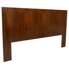 Danish Modern Queen Size Walnut Headboard
