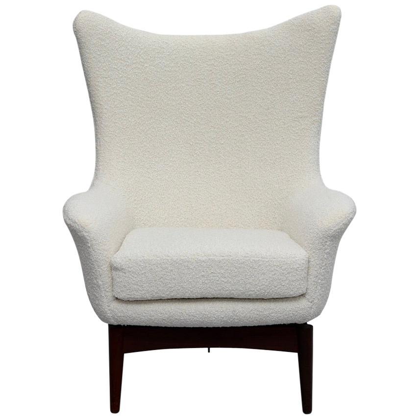 Danish Modern Recliner Lounge Chair by H.W. Klein