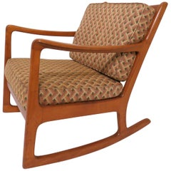 Danish Modern Rocking Chair by Ole Wanscher, circa 1950s