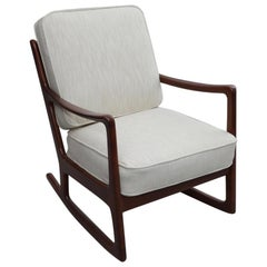 Danish Modern Rocking Chair by Ole Wanscher for France & Daverkosen