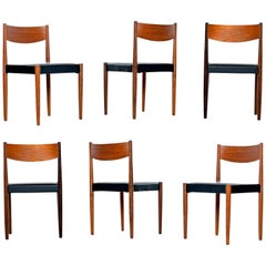 Danish Modern Rosewood and Teak Dining Chairs