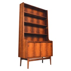 Danish Modern Rosewood Bookcase by Johannes Sorth for Bornholm