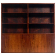 Danish Modern Rosewood Bookcase by Poul Hundevad