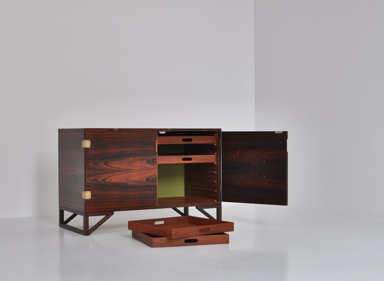 Danish Modern Rosewood Cabinet / Sideboard by Svend Langkilde for Illums, 1960s 3