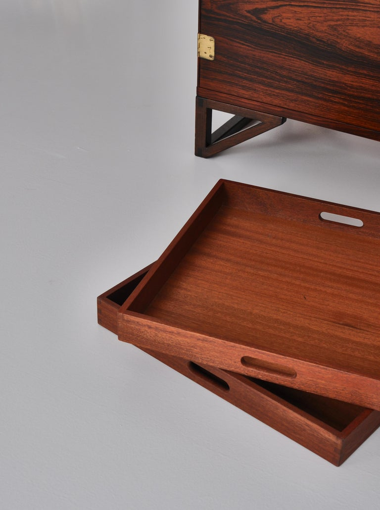 Danish Modern Rosewood Cabinet / Sideboard by Svend Langkilde for Illums, 1960s 4