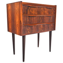 Danish Modern Rosewood Chest with Quarter Profile Pull