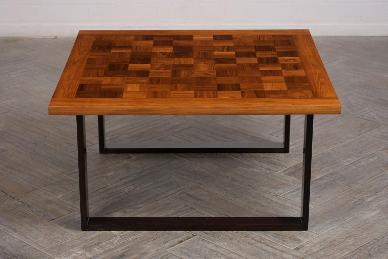 Danish Mid-Century Modern Square Coffee Table In Good Condition For Sale In Los Angeles, CA