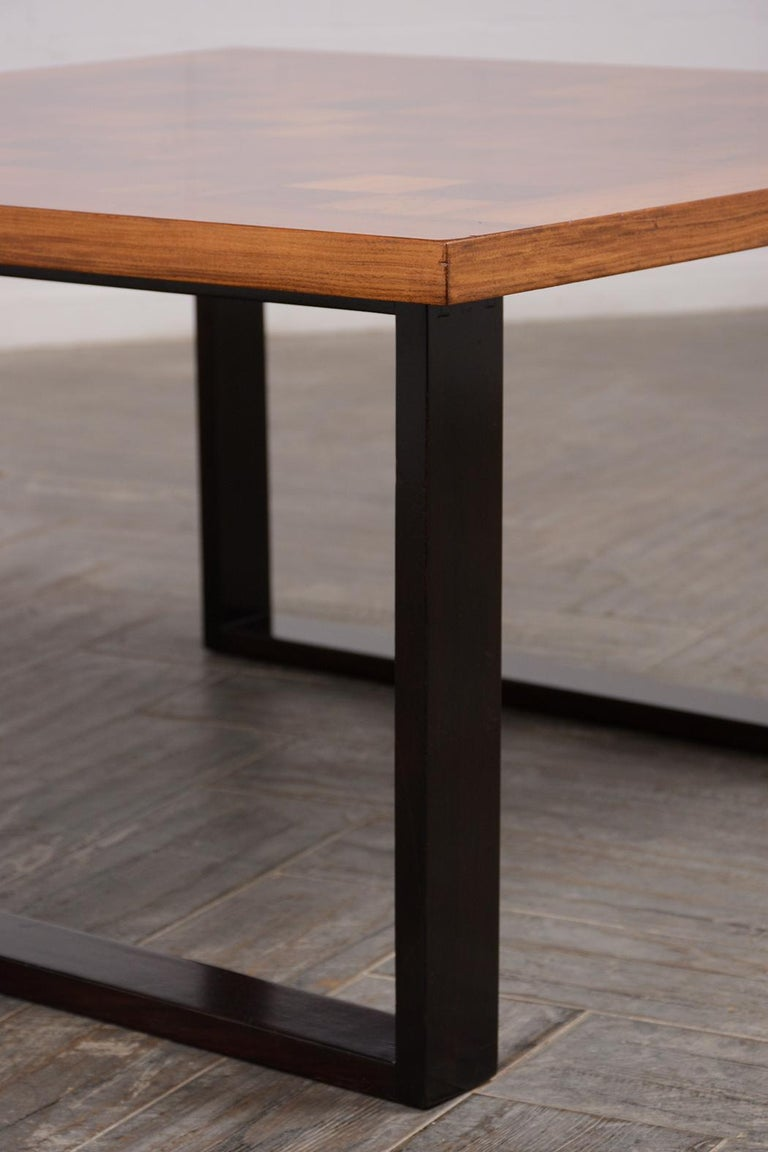 Danish Mid-Century Modern Square Coffee Table For Sale 2