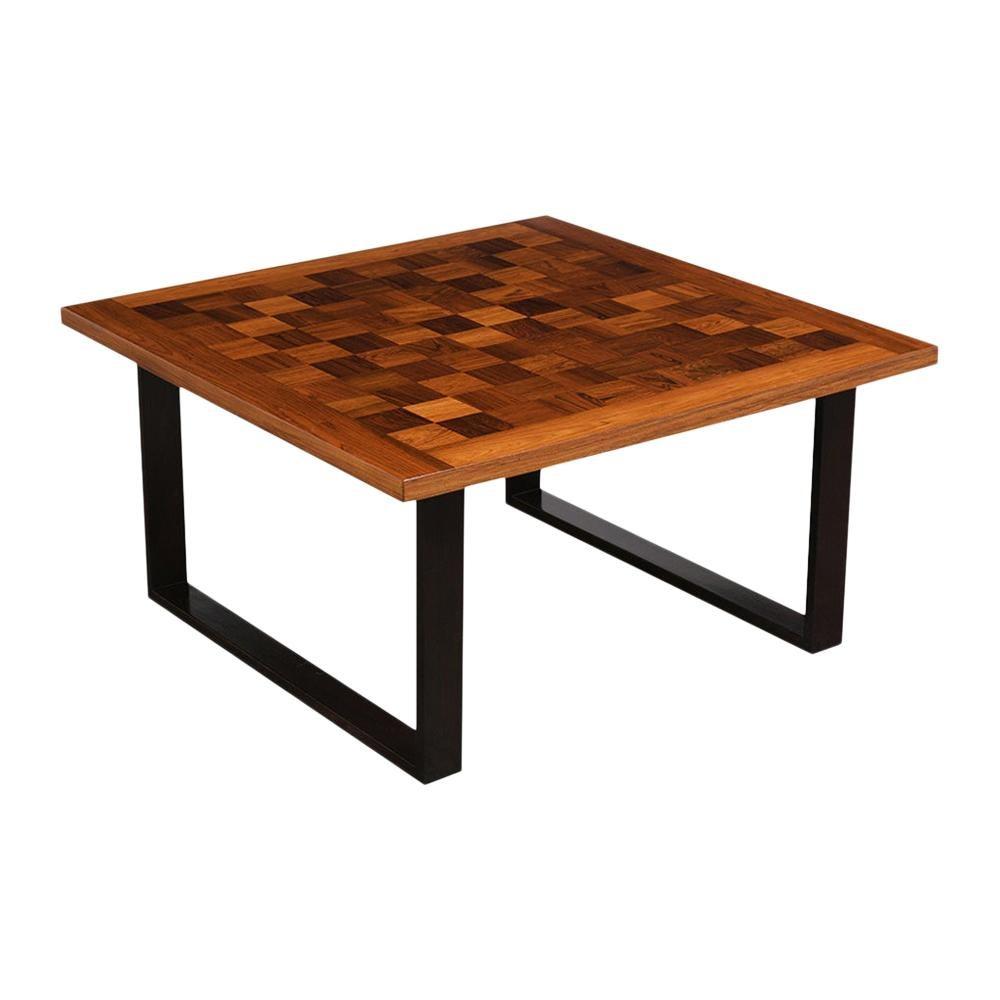 Danish Mid-Century Modern Square Coffee Table