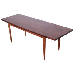 Danish Modern Rosewood Coffee Table, Newly Refinished