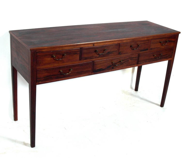 Mid-Century Modern Danish Modern Rosewood Console by Ole Wanscher For Sale