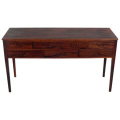 Danish Modern Rosewood Console by Ole Wanscher