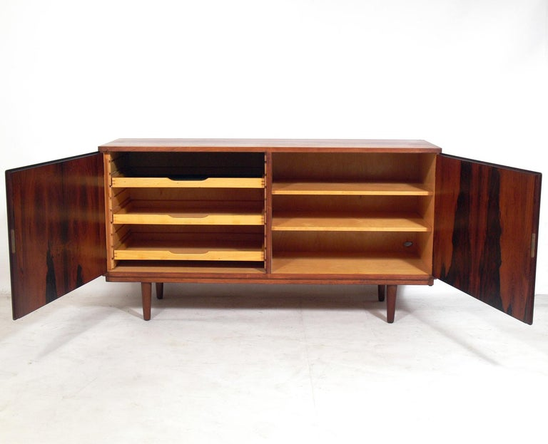 Mid-Century Modern Danish Modern Rosewood Credenza by Poul Hundevad For Sale