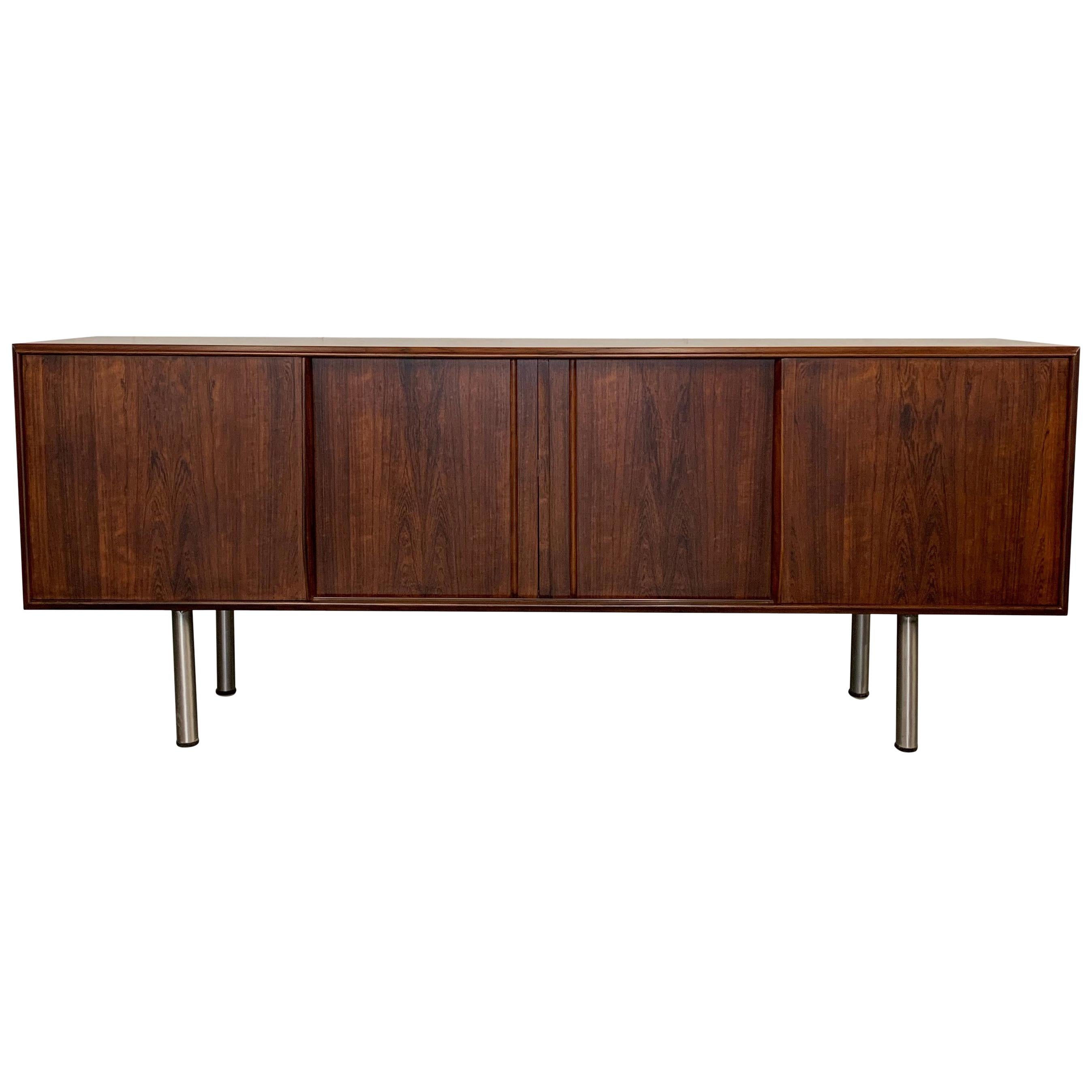 Danish Modern Rosewood Credenza Sideboard