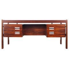 Danish Modern Rosewood Desk by Dyrlund