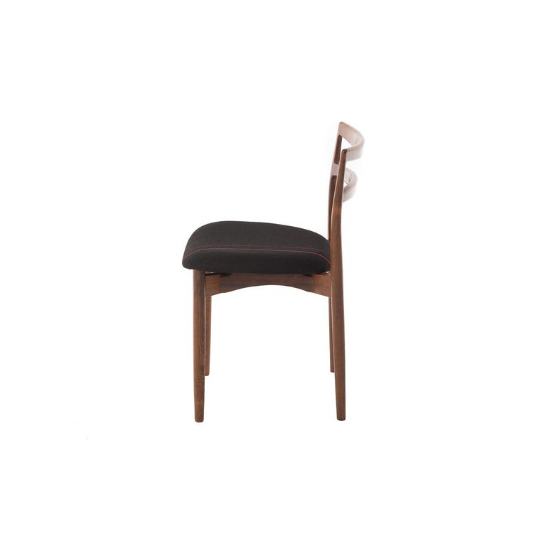 Mercerized Danish Modern Rosewood Dining Chairs by Harry Østergaard For Sale