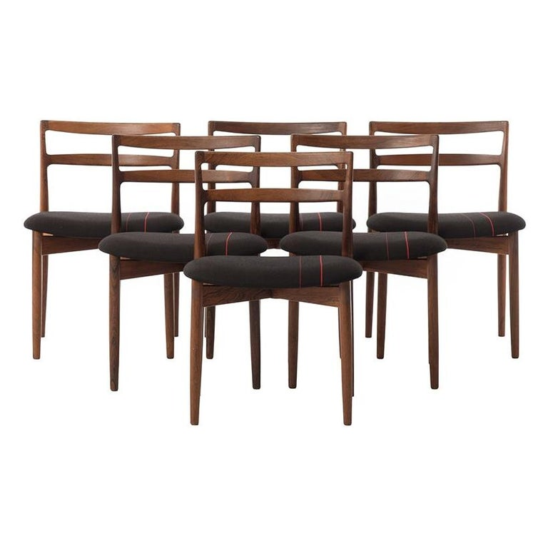 Danish Modern Rosewood Dining Chairs by Harry Østergaard For Sale