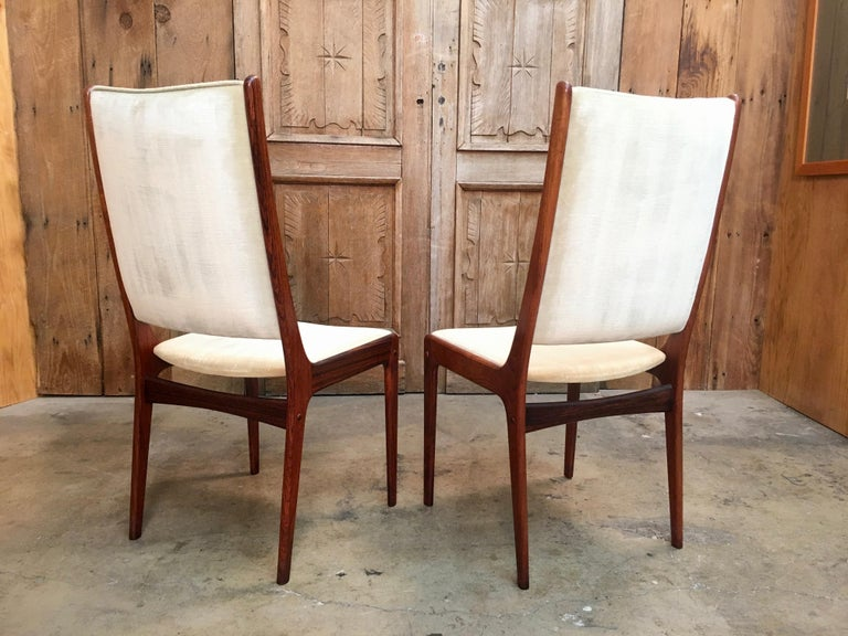 Danish Modern Rosewood Dining Chairs For Sale 4
