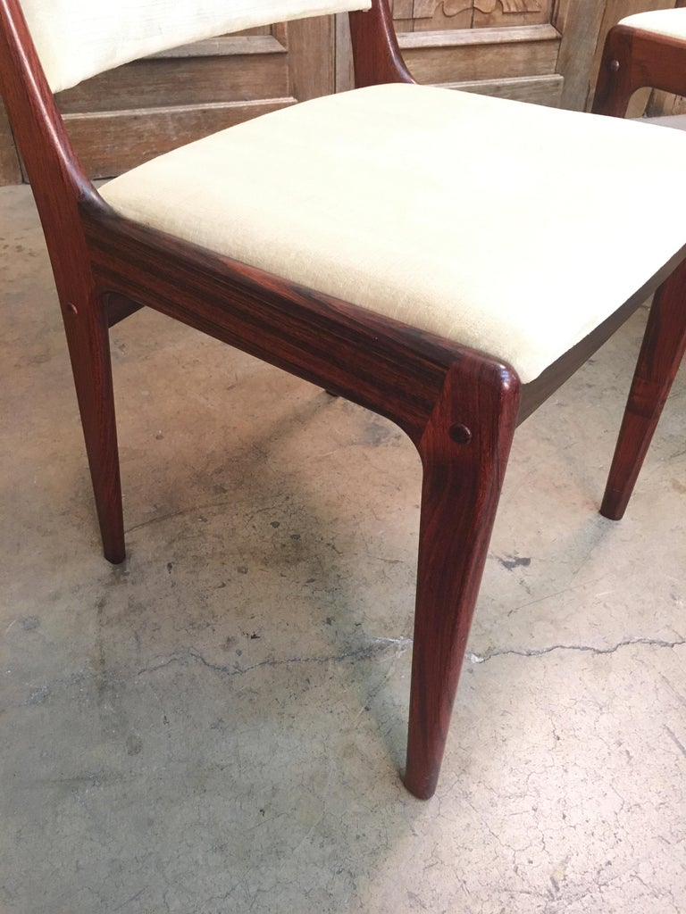 Danish Modern Rosewood Dining Chairs For Sale 5