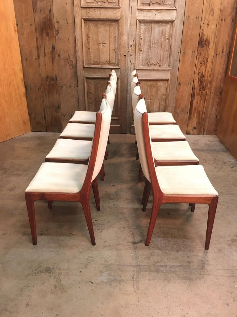 Danish Modern Rosewood Dining Chairs In Good Condition For Sale In Laguna Hills, CA