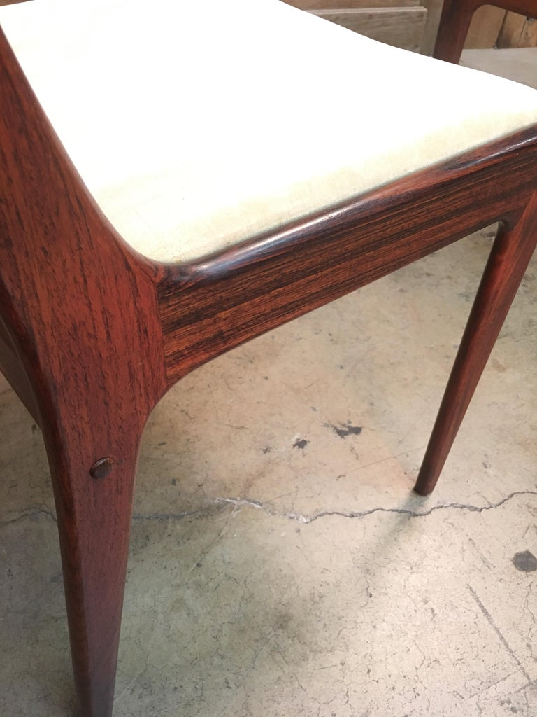20th Century Danish Modern Rosewood Dining Chairs For Sale