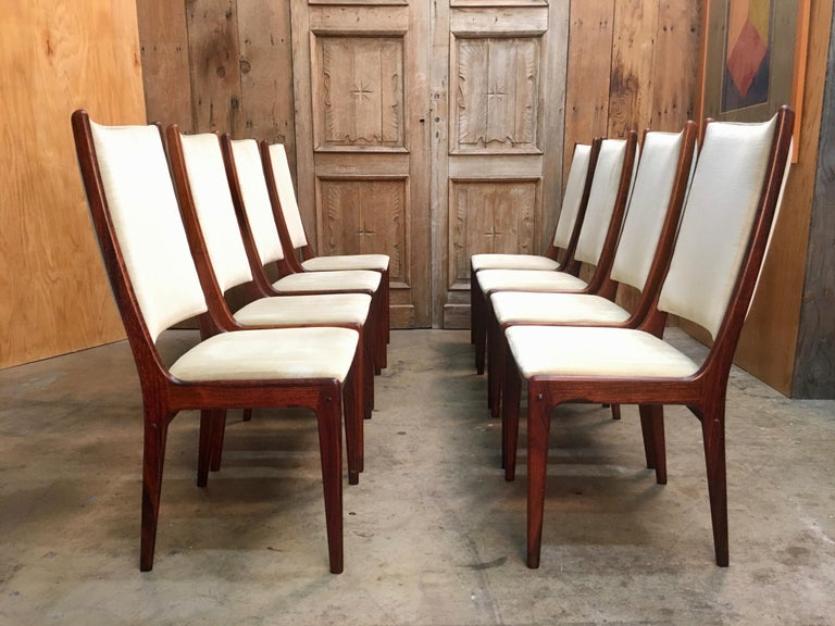 Danish Modern Rosewood Dining Chairs For Sale 1