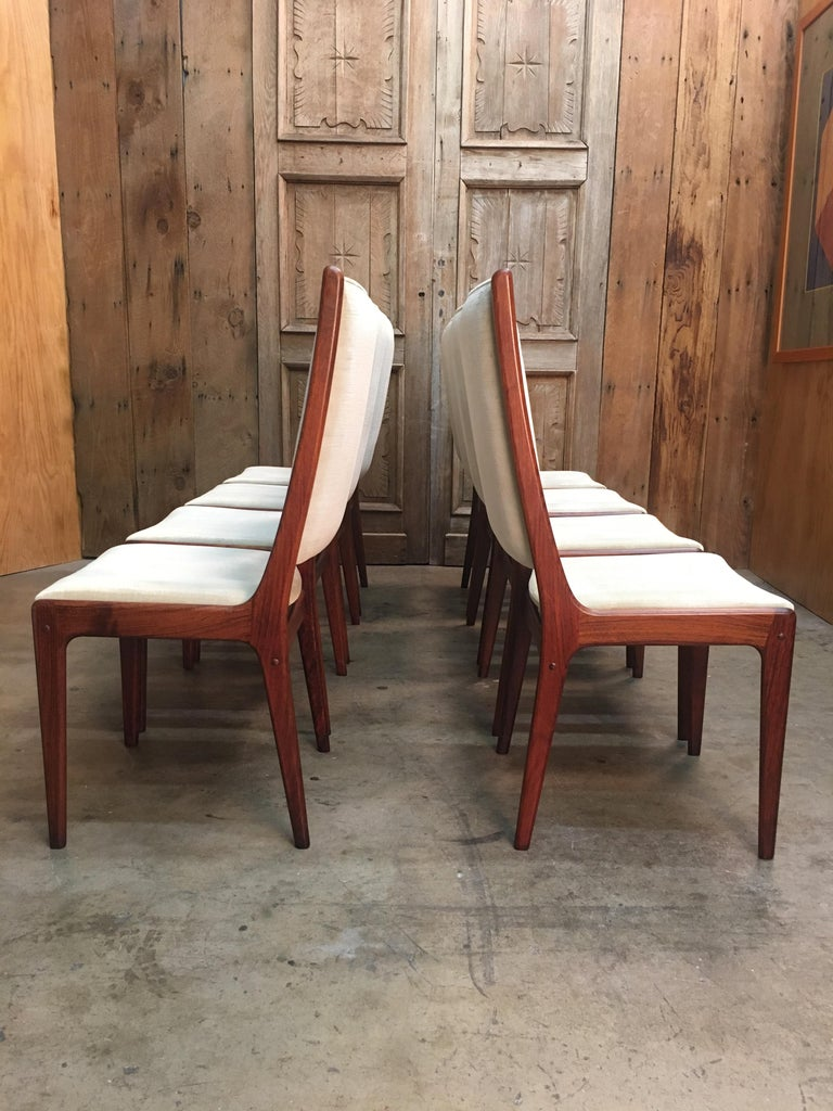 Danish Modern Rosewood Dining Chairs For Sale 2