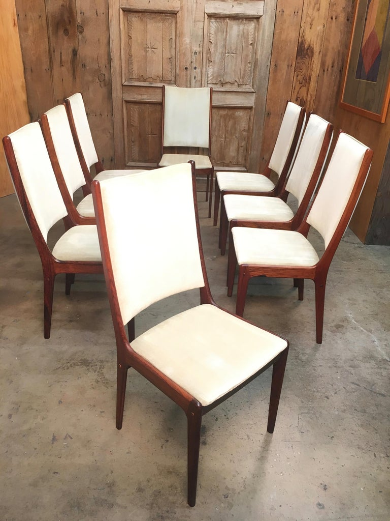 Danish Modern Rosewood Dining Chairs For Sale 3