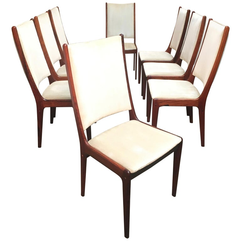 Danish Modern Rosewood Dining Chairs For Sale