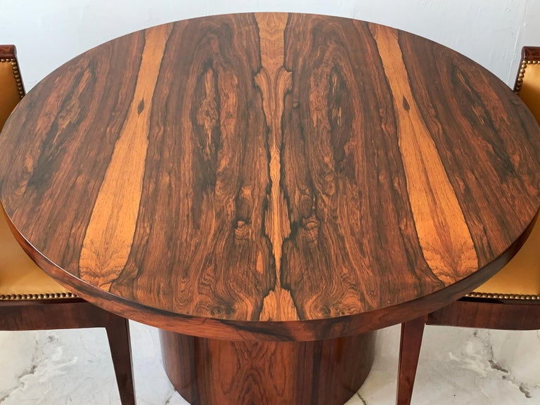 Danish Modern Rosewood Dining Game Table In Good Condition For Sale In Los Angeles, CA