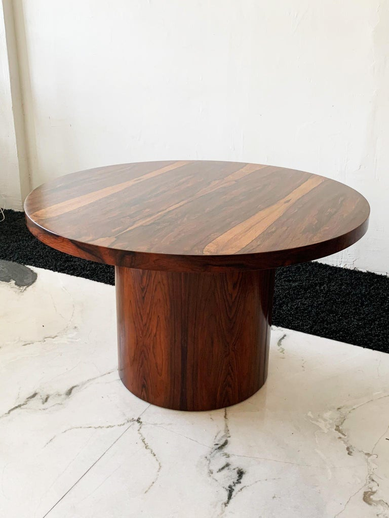 Mid-20th Century Danish Modern Rosewood Dining Game Table For Sale
