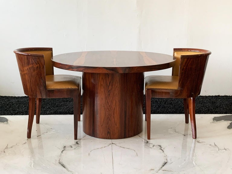 Danish Modern Rosewood Dining Game Table For Sale 1