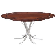 "Danish Modern Rosewood ""Flip-Flap"" Dining Table by Dyrlund"