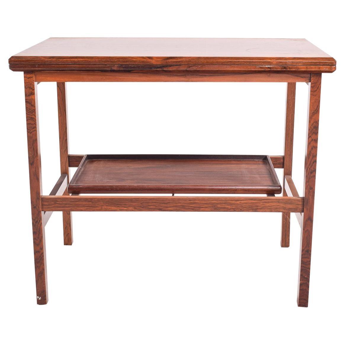 Danish Modern Rosewood Flip-Top Tea Troley/Bar Cart Server