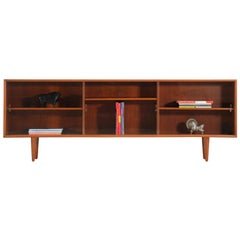Danish Modern Rosewood and Glass Bookcase by H.P. Hansen