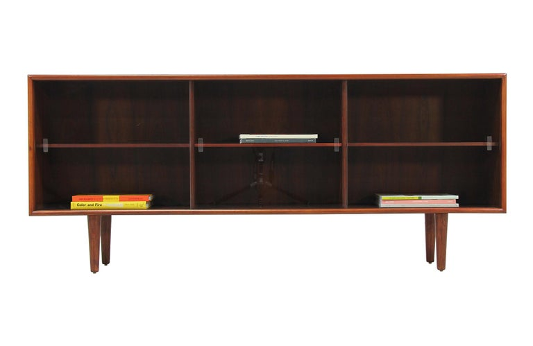 Credenza Danish Modern : Danish modern rosewood and glass credenza by h.p. hansen for sale at