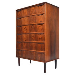 Danish Modern Rosewood Highboy Dresser by Trekanten