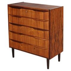 Danish Modern Rosewood Highboy Dresser