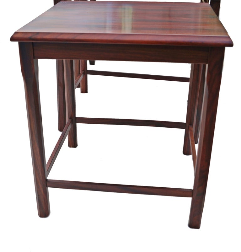 Danish Modern Rosewood Nesting E.W. Bach Toften Stacking Side End Accent Tables In Good Condition For Sale In Wayne, NJ
