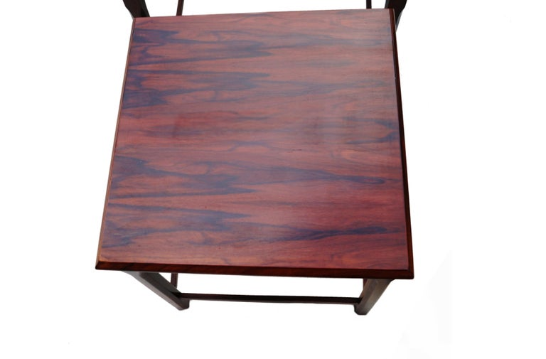 Danish Modern Rosewood Nesting E.W. Bach Toften Stacking Side End Accent Tables For Sale 2