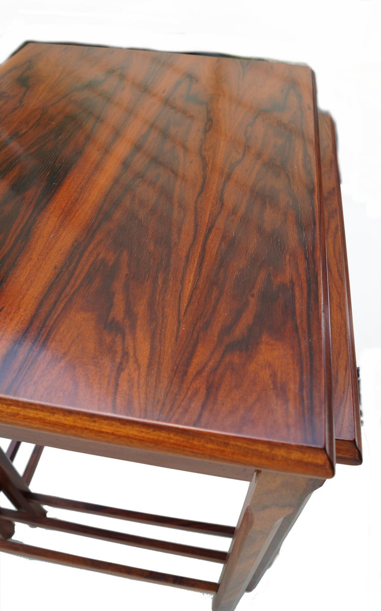 Danish Modern Rosewood Nesting E.W. Bach Toften Stacking Side End Accent Tables For Sale 3
