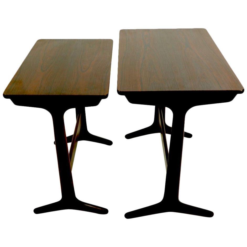 Danish Modern Rosewood Nesting Tables by Erling Torvits for Heltborg Mobler