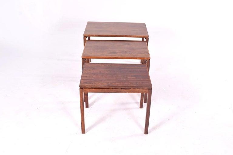 Danish Modern Rosewood Nesting Tables by Fabian 5