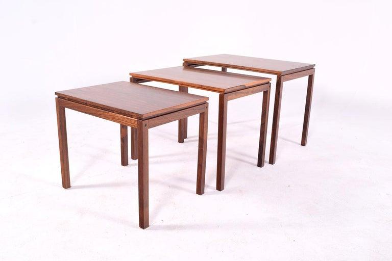 Danish Modern Rosewood Nesting Tables by Fabian 6